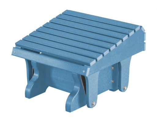 Powder Blue Sidra Outdoor Gliding Footrest