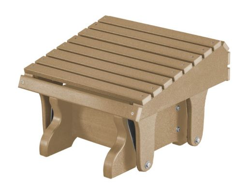 Weathered Wood Sidra Outdoor Gliding Footrest