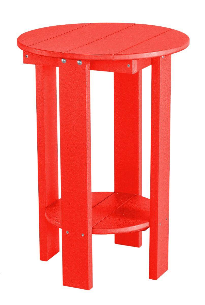 Bright Red Sidra Balcony Table