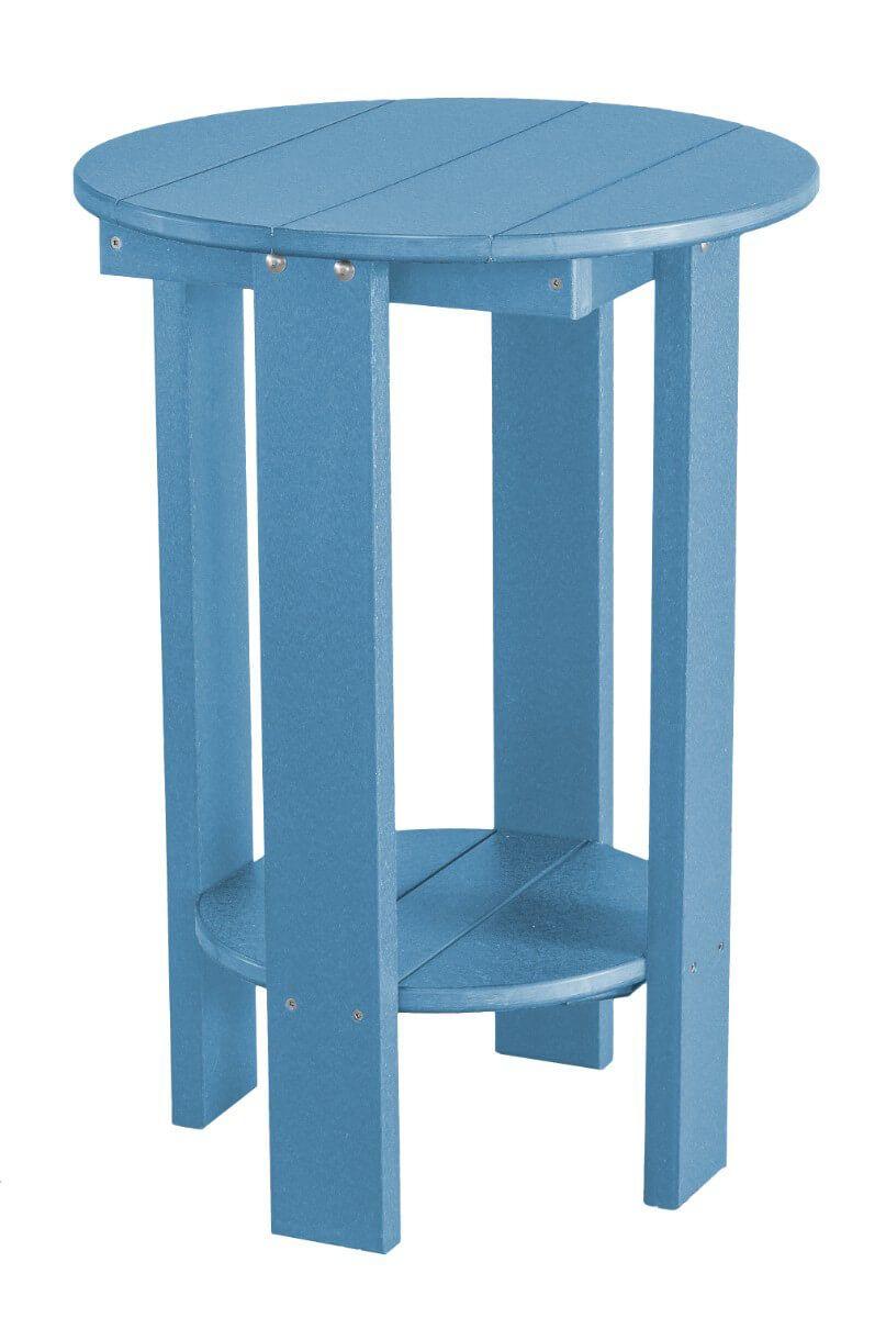 Powder Blue Sidra Balcony Table