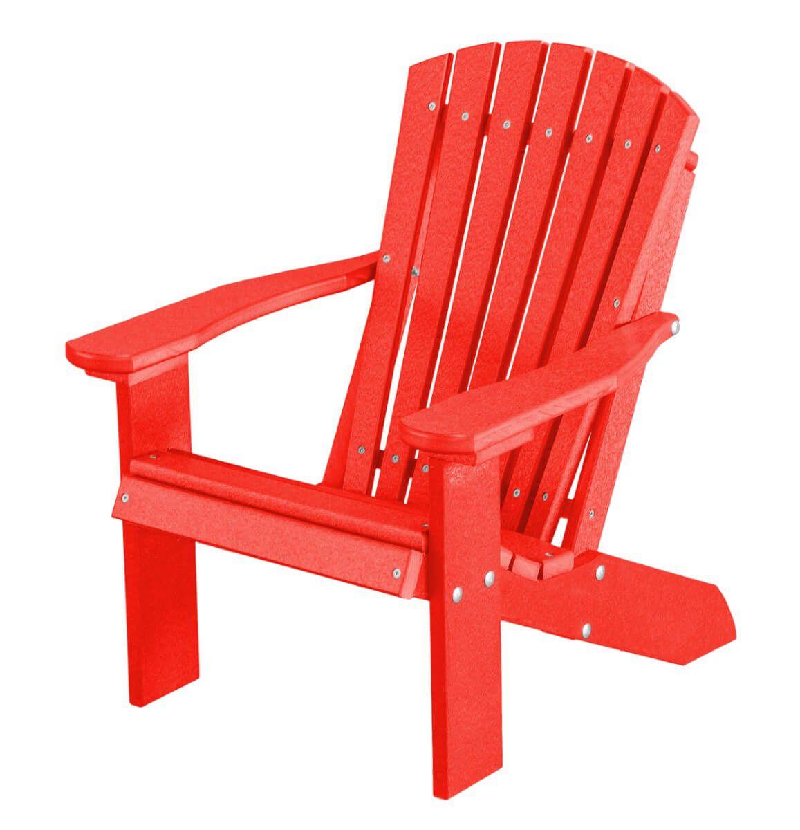 Bright Red Sidra Child's Adirondack Chair