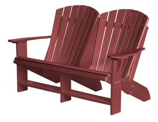Cherry Wood Sidra Double Adirondack