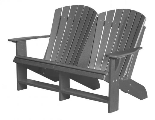 Dark Gray Sidra Double Adirondack