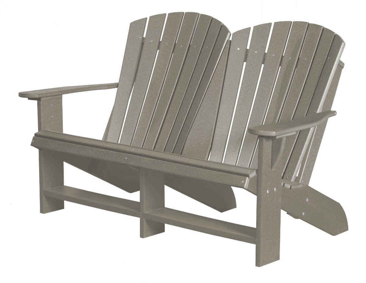 Light Gray Sidra Double Adirondack