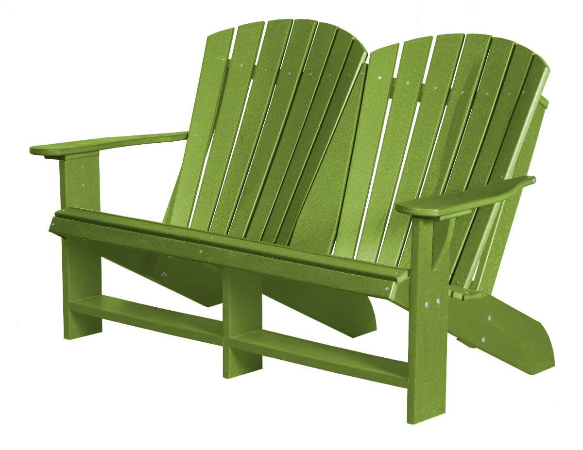 Lime Green Sidra Double Adirondack