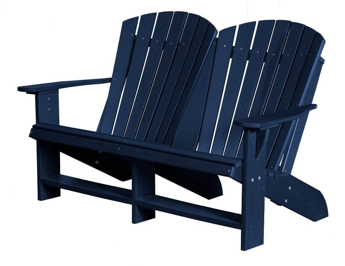 Patriot Blue Sidra Double Adirondack
