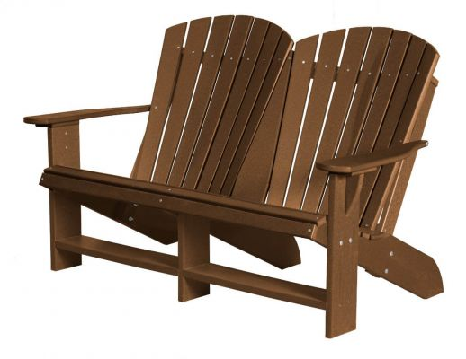 Tudor Brown Sidra Double Adirondack
