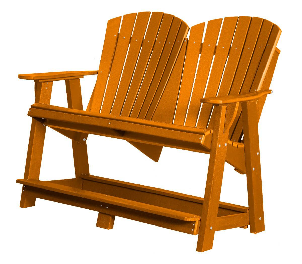 Bright Orange Sidra Double High Adirondack
