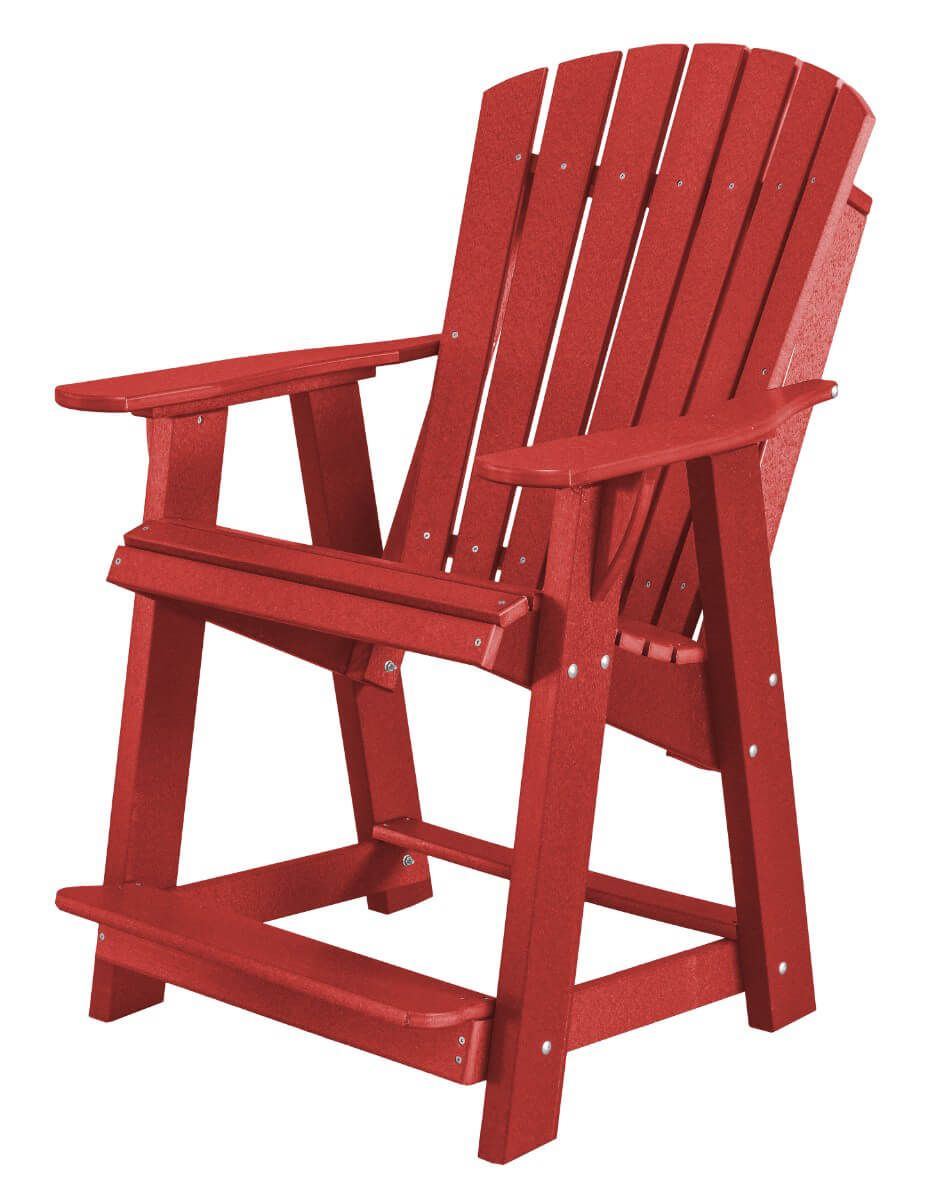 Cardinal Red Sidra High Adirondack Chair