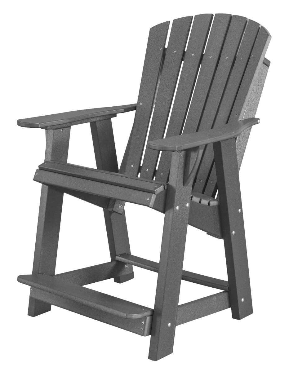 Dark Gray Sidra High Adirondack Chair