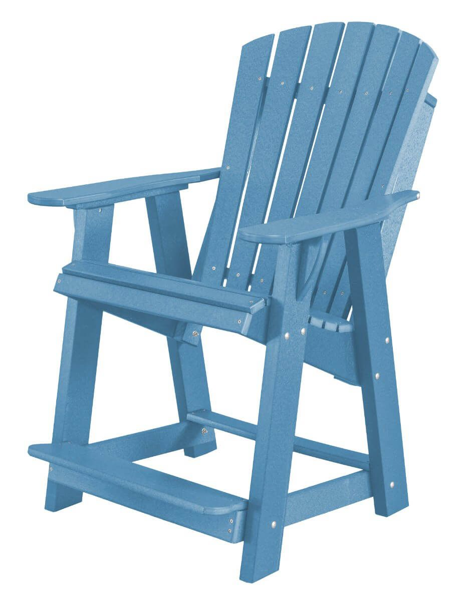 Powder Blue Sidra High Adirondack Chair
