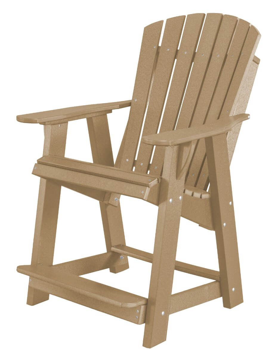 Weathered Wood Sidra High Adirondack Chair