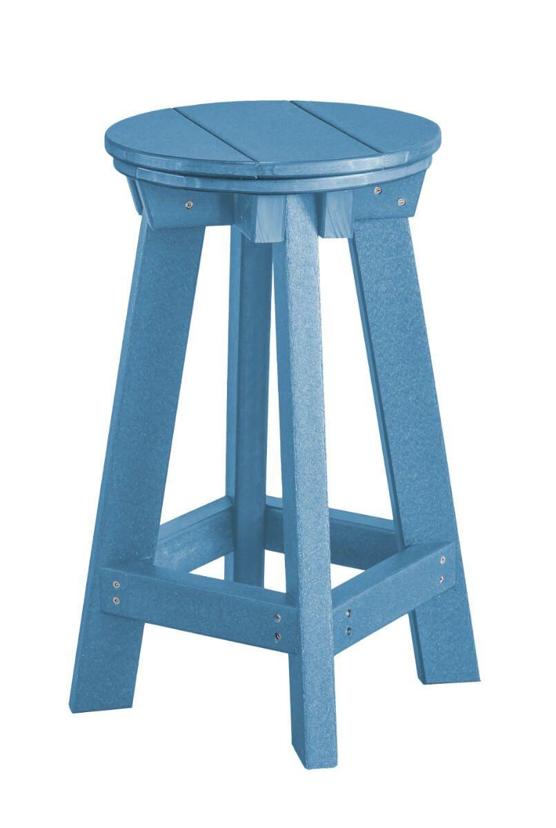 Powder Blue Sidra Outdoor Bar Stool