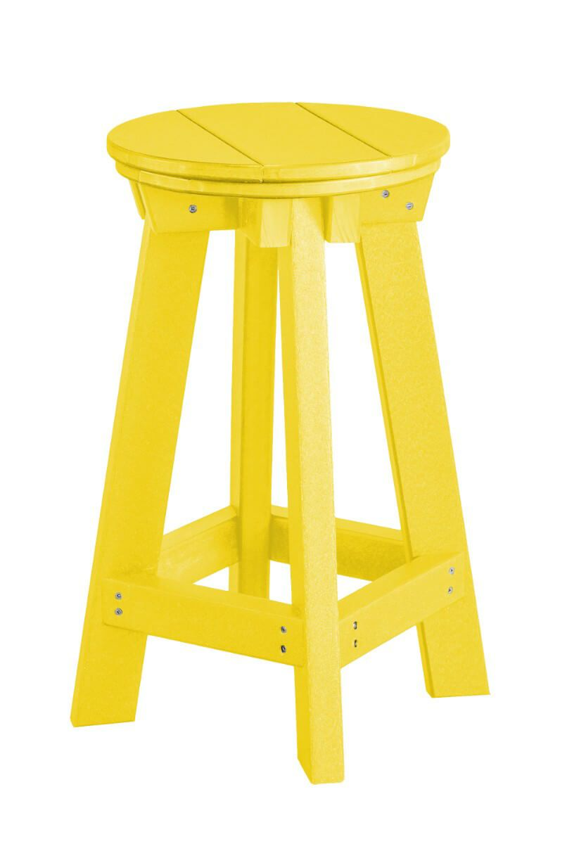Lemon Yellow Sidra Outdoor Bar Stool