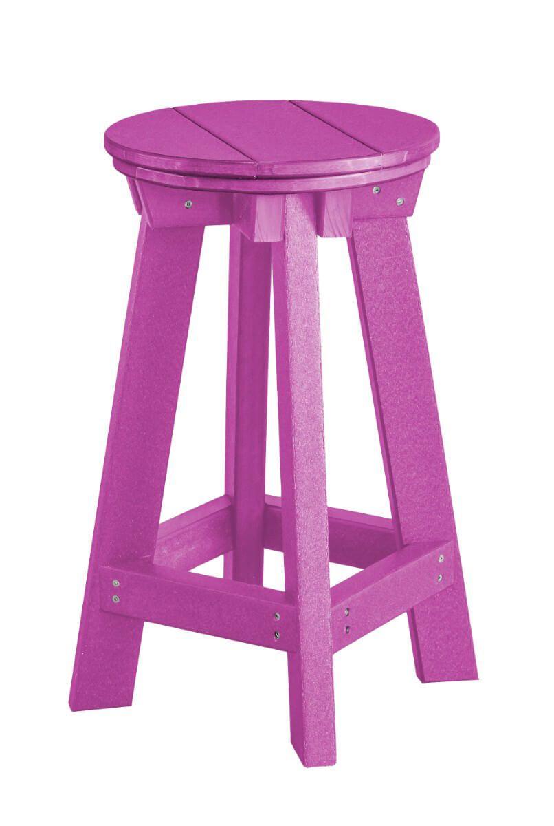 Purple Sidra Outdoor Bar Stool