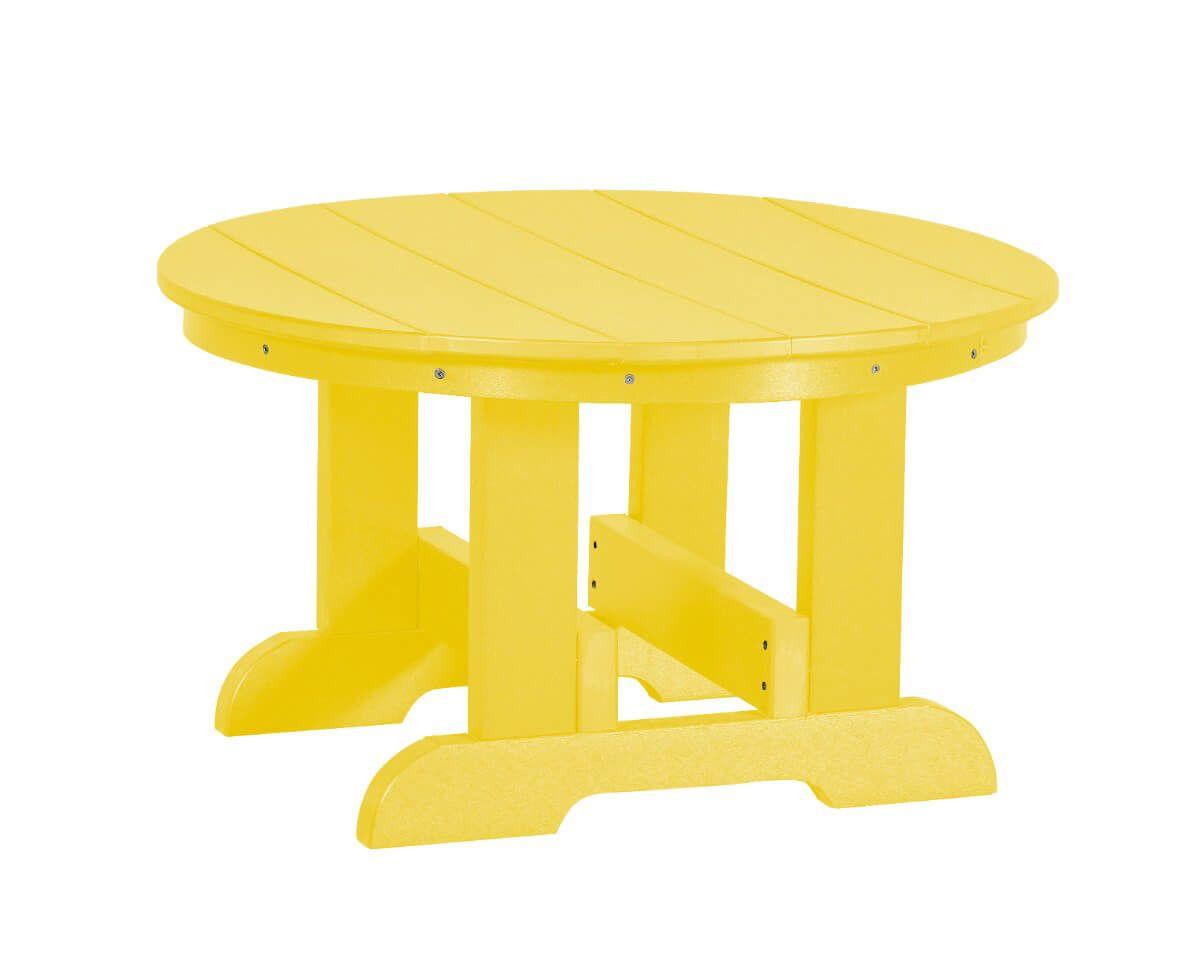 Lemon Yellow Sidra Outdoor Conversation Table