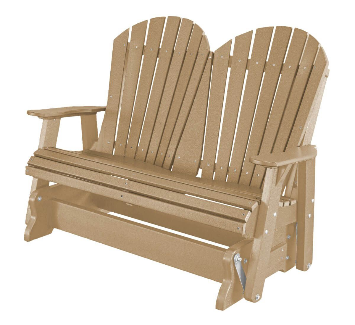 Weathered Wood Sidra Outdoor Double Glider