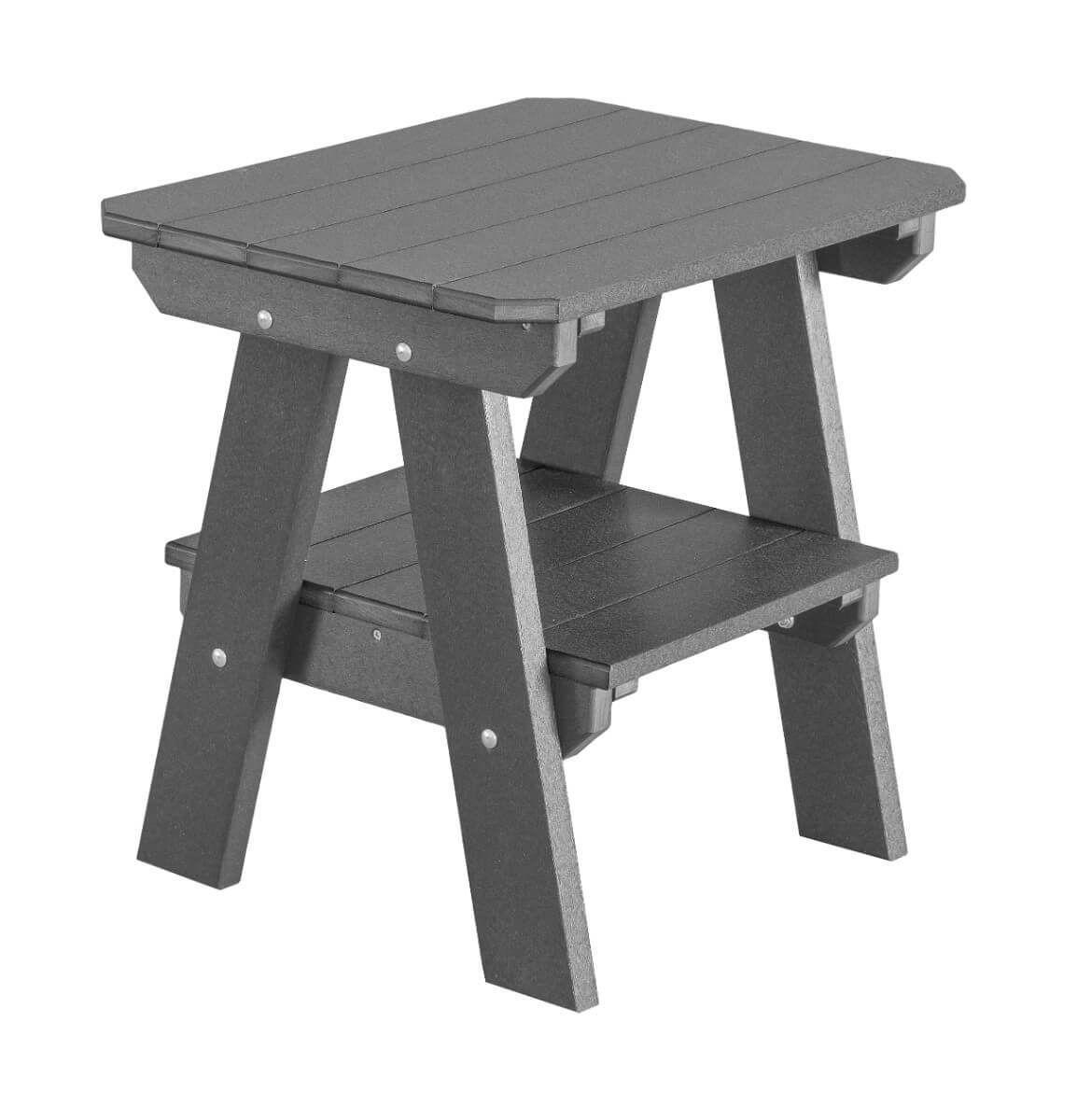 Dark Gray Sidra Outdoor End Table