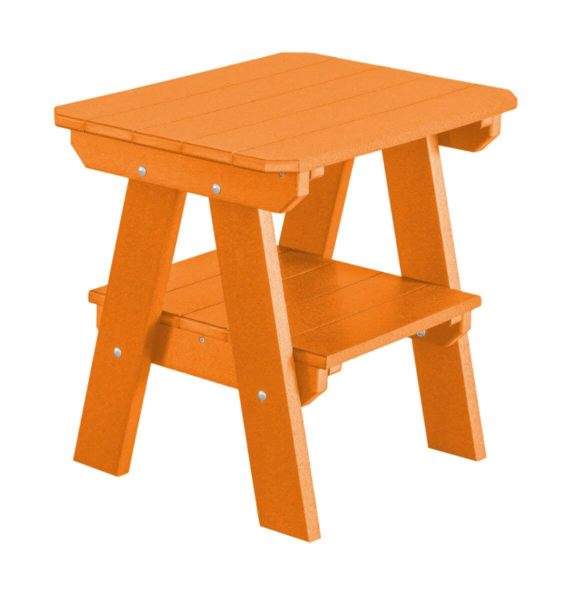 Orange Sidra Outdoor End Table