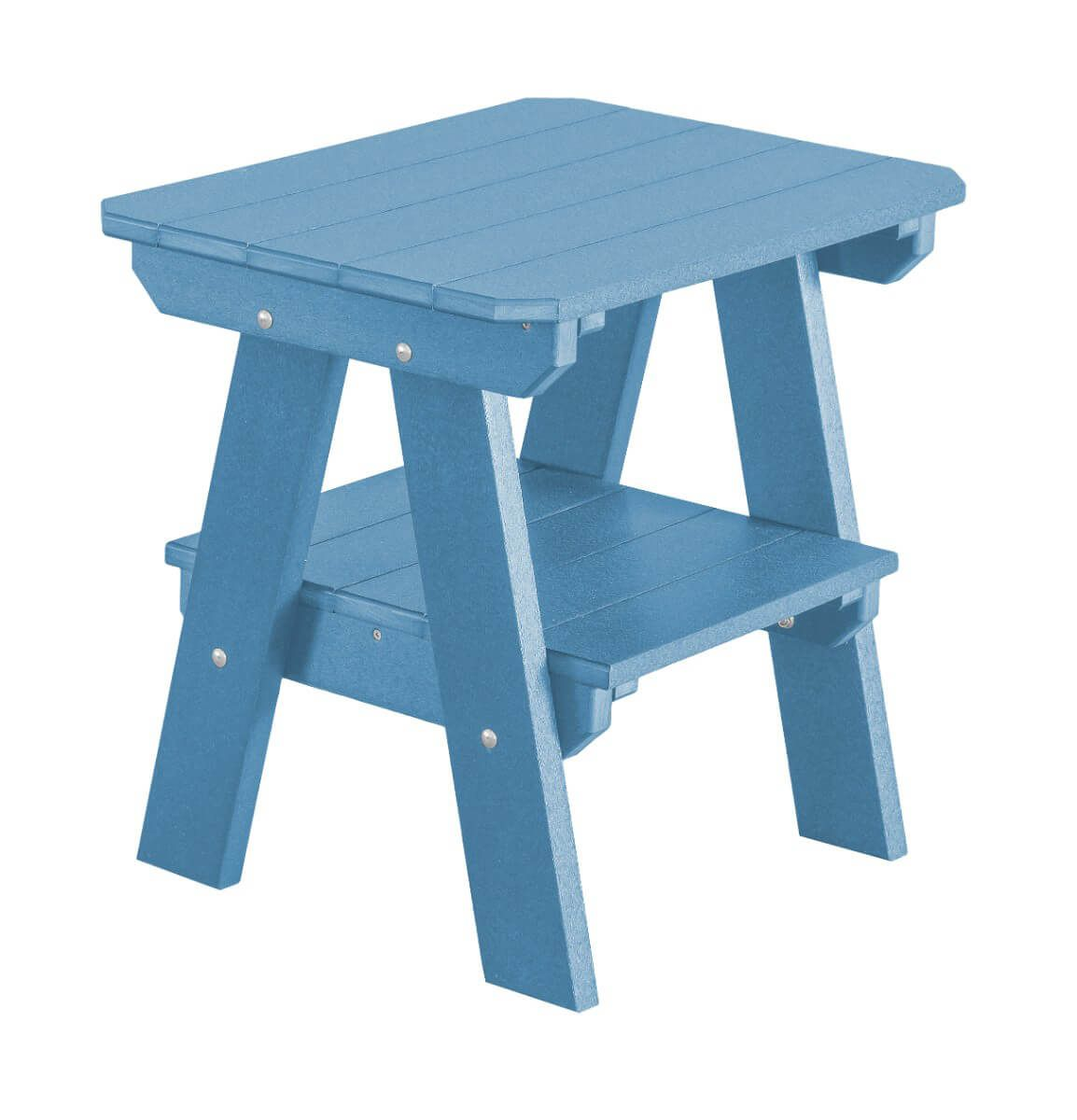 Powder Blue Sidra Outdoor End Table