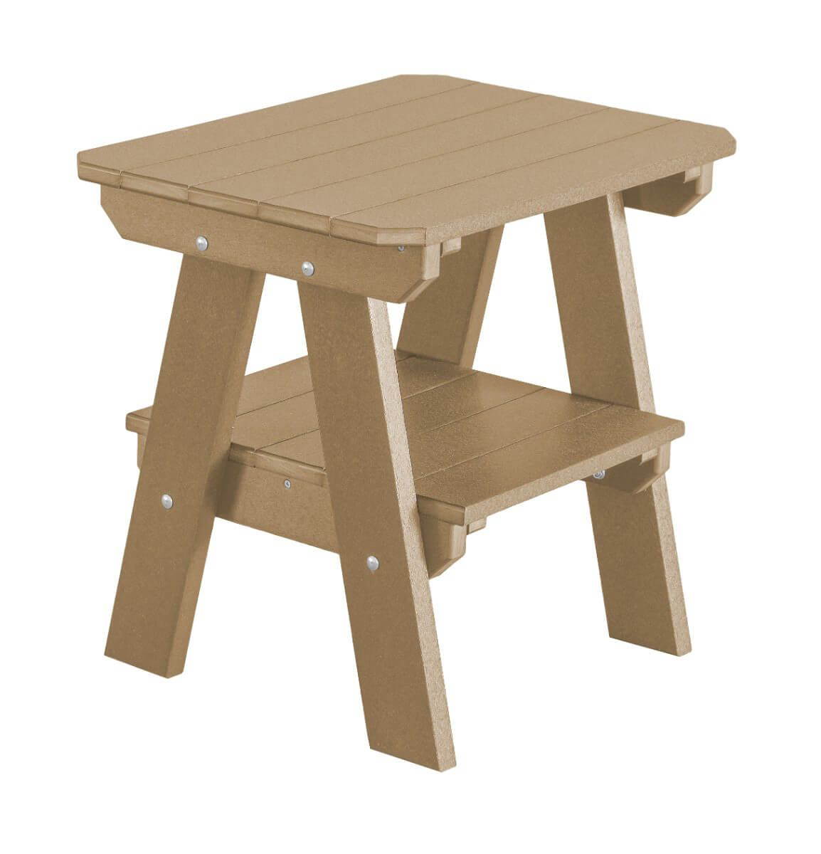Weathered Wood Sidra Outdoor End Table