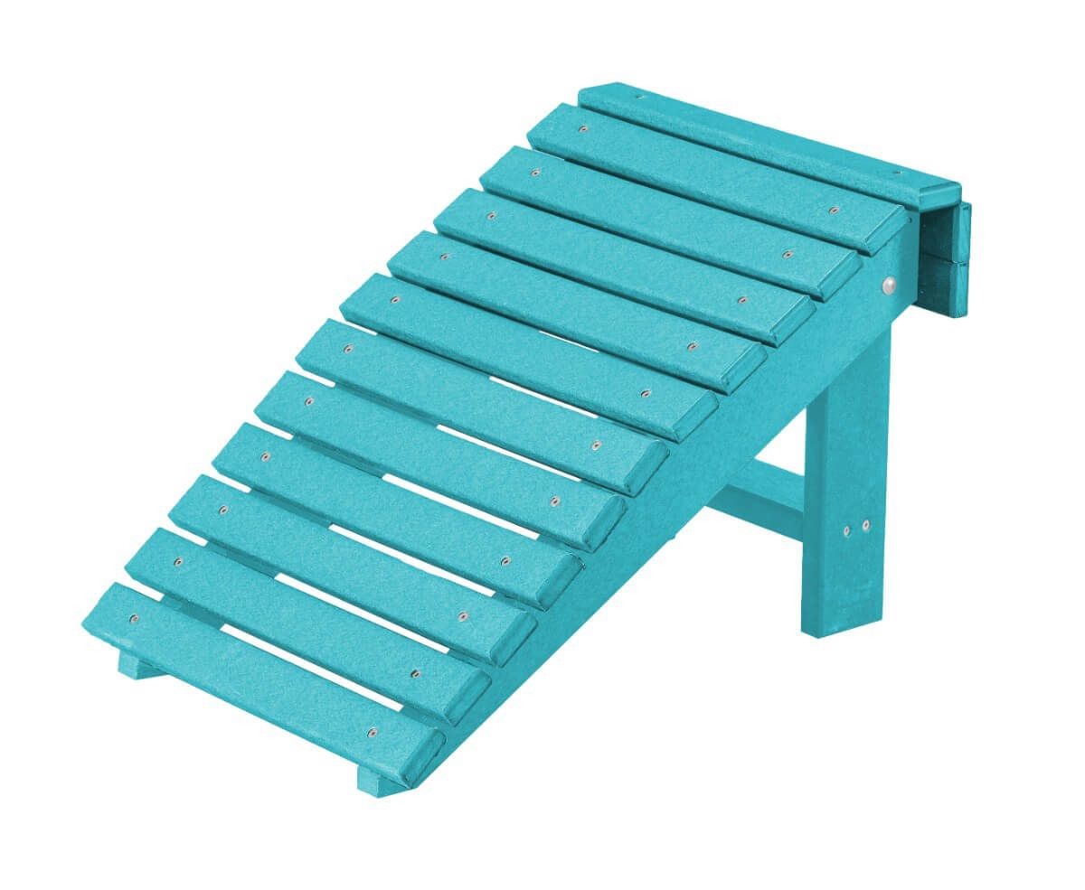 Aruba Blue Sidra Outdoor Folding Footstool