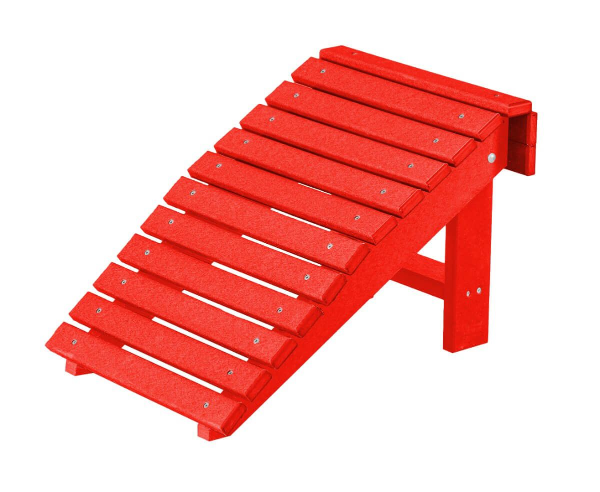 Red Sidra Outdoor Folding Footstool