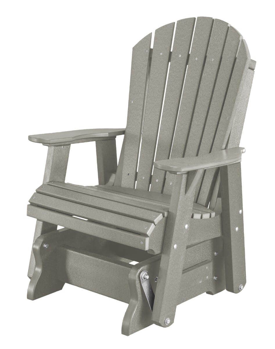 Light Gray Sidra Outdoor Glider Chair