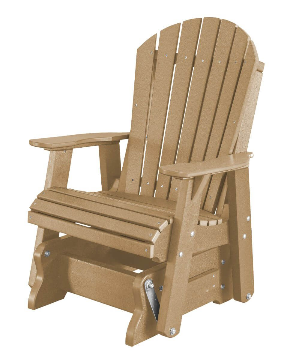 Weathered Wood Sidra Outdoor Glider Chair