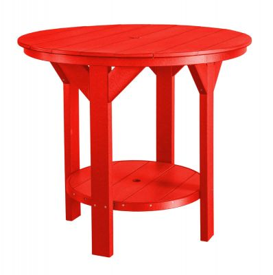 Bright Red Sidra Outdoor Pub Table