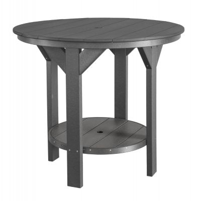 Dark Gray Sidra Outdoor Pub Table