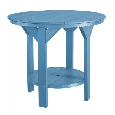 Powder Blue Sidra Outdoor Pub Table
