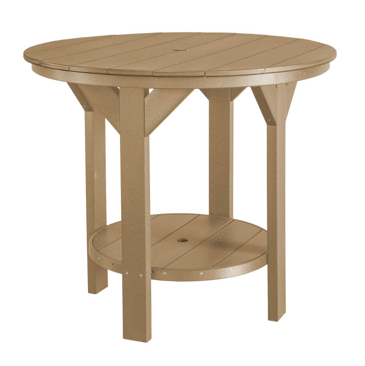 Weathered Wood Sidra Outdoor Pub Table