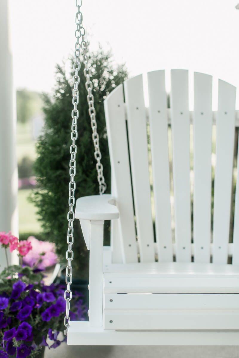 Fan Back Porch Swing
