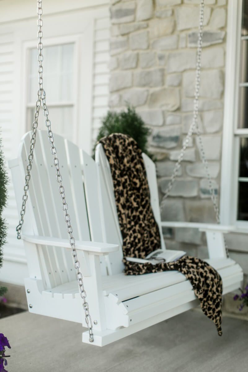 White Poly Porch Swing