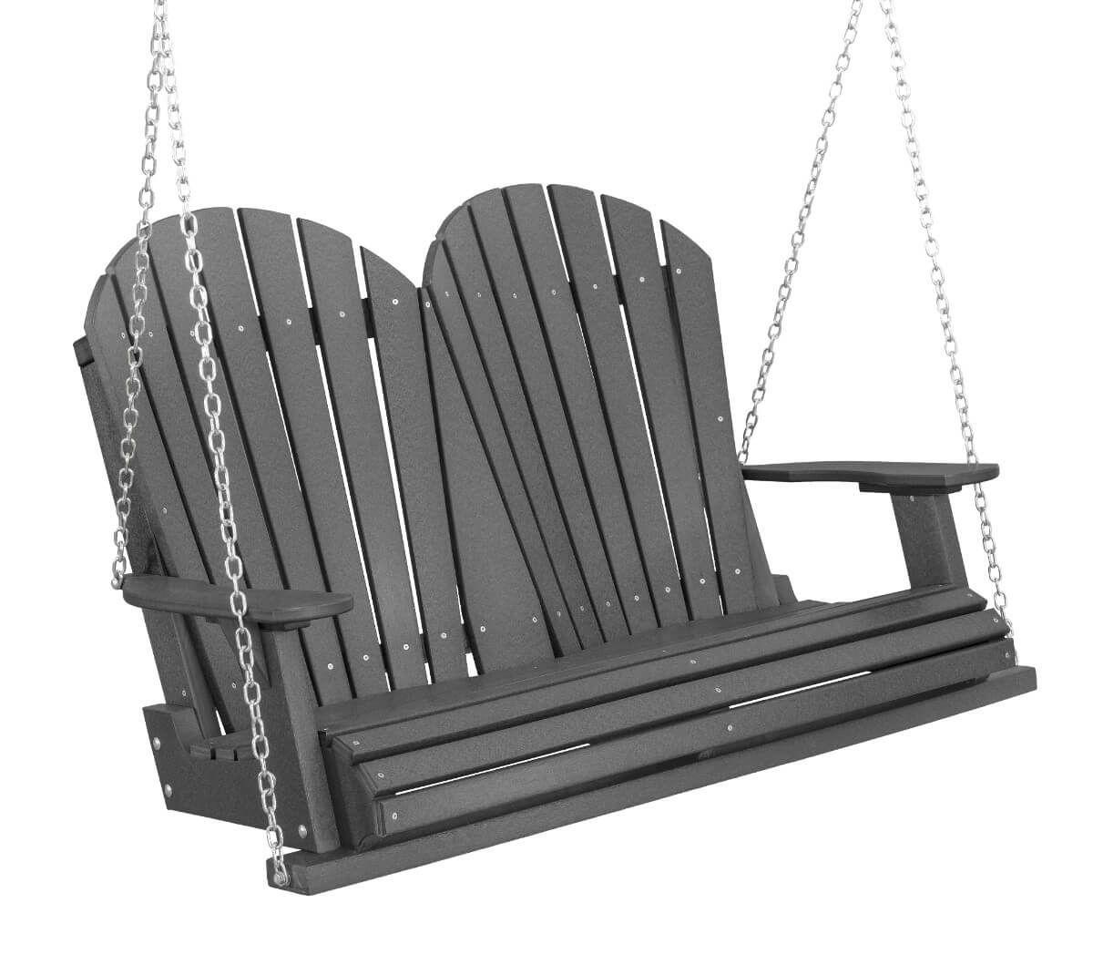 Dark Gray Sidra Outdoor Porch Swing
