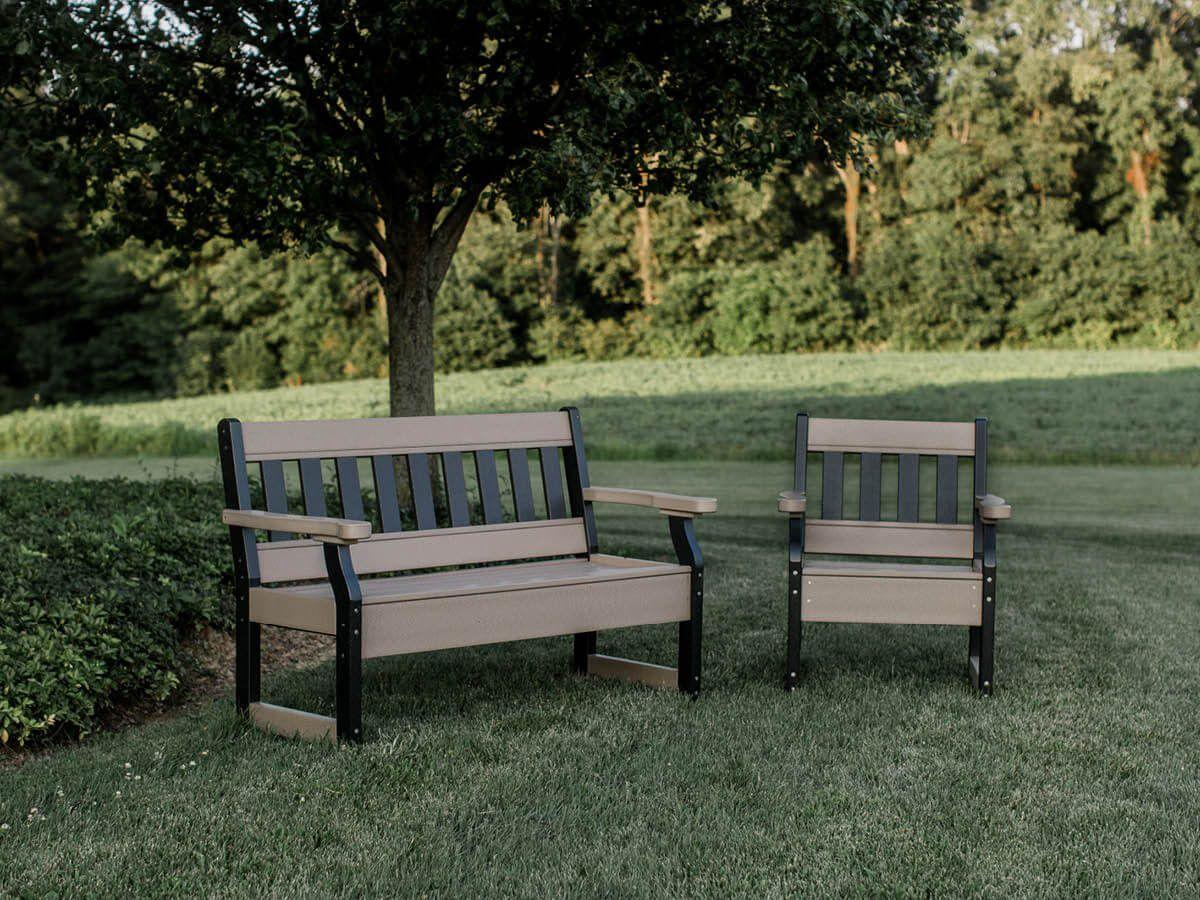 Aden Garden Bench and Patio Chair