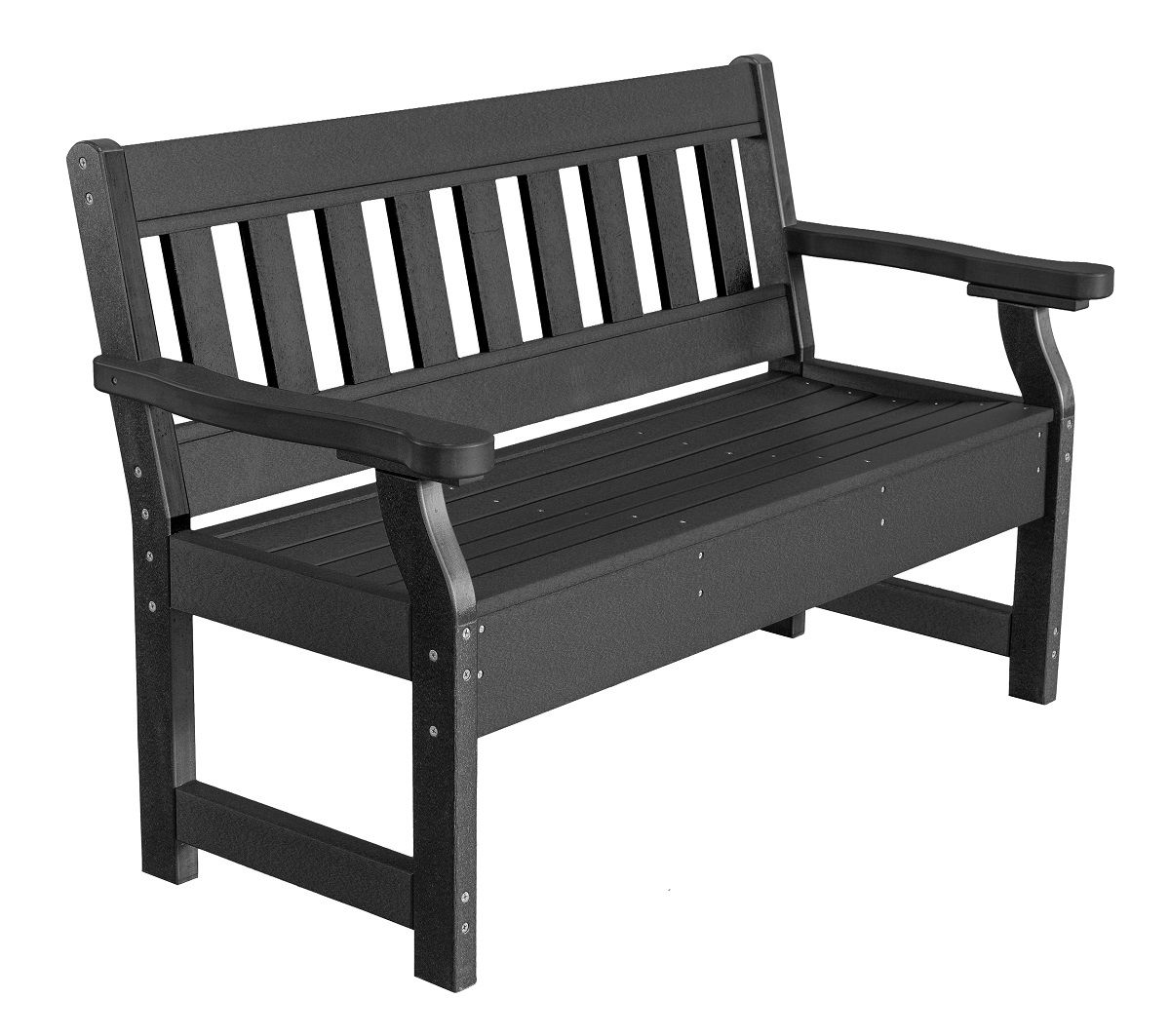 Black Aden Garden Bench