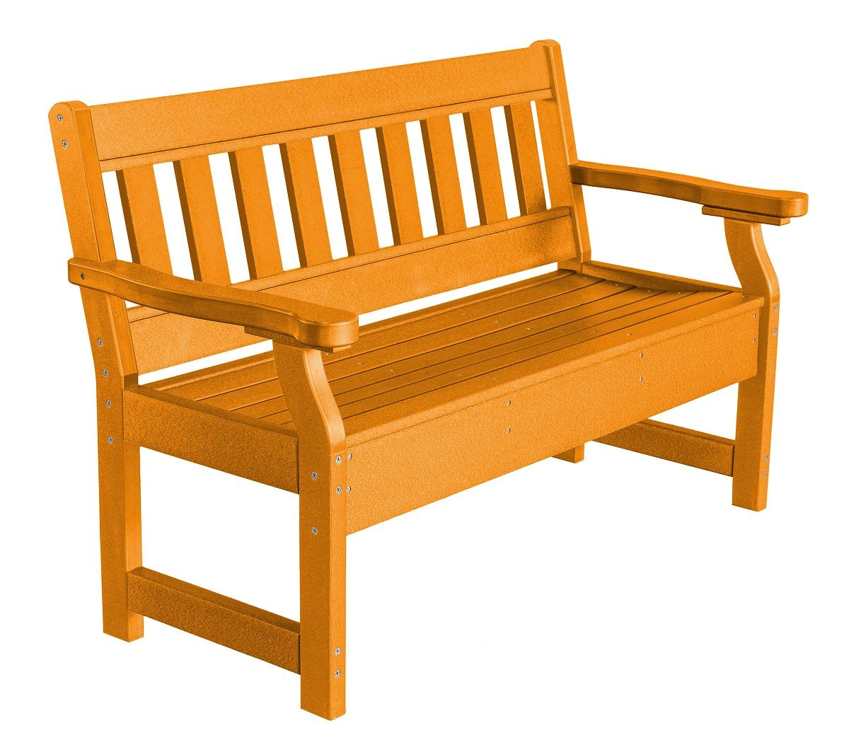 Bright Orange Aden Garden Bench