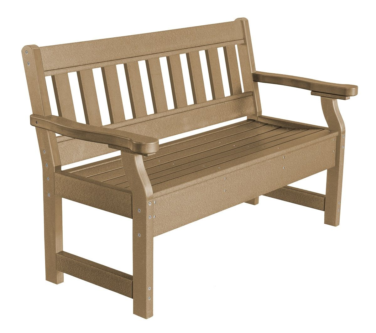 Weathered Wood Aden Garden Bench