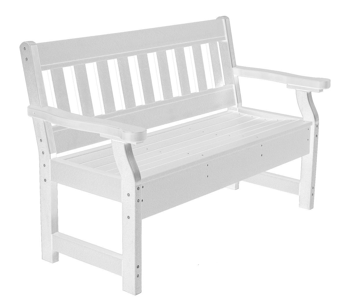 White Aden Garden Bench