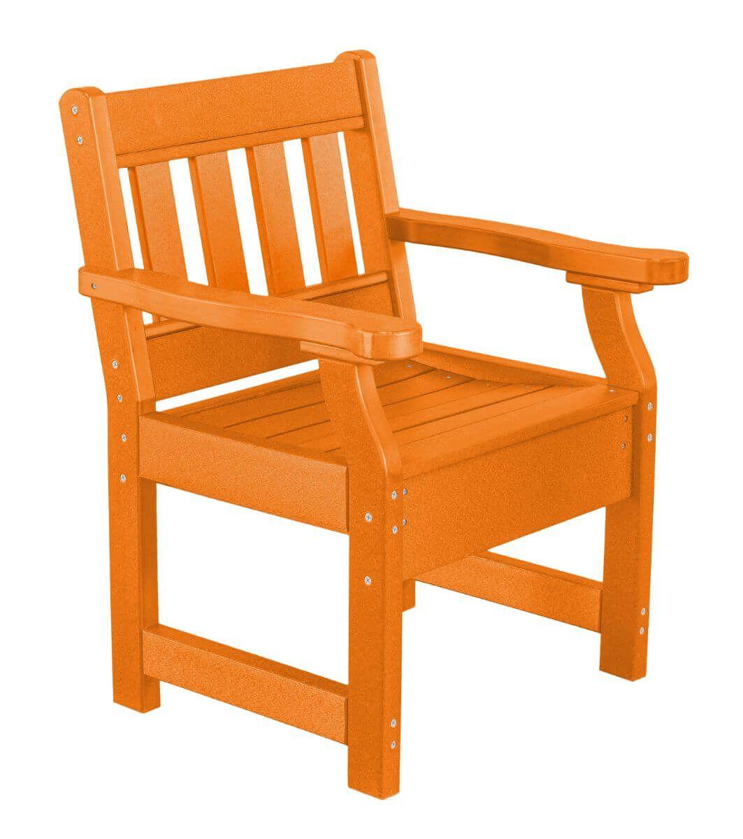 Bright Orange Aden Patio Chair