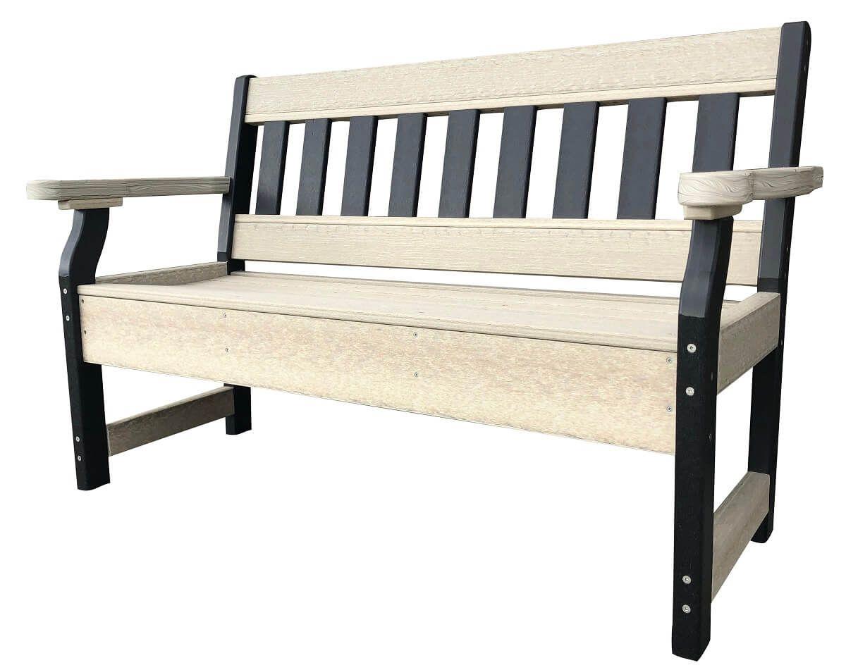 Two Tone Garden Bench