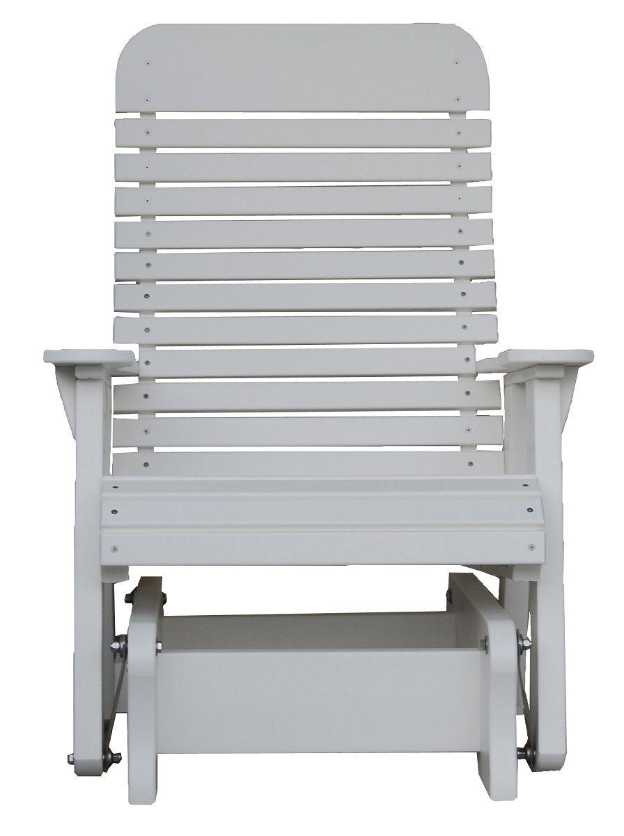 White Poly Gliding Patio Chair