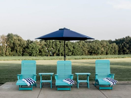 Outdoor Aruba Blue Lounge Chairs