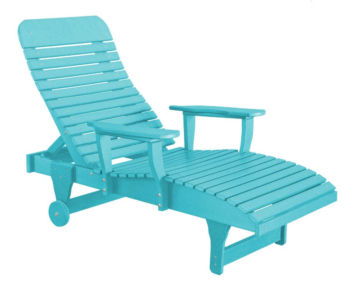 Aruba Blue Andaman Outdoor Chaise Lounge