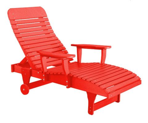 Bright Red Andaman Outdoor Chaise Lounge