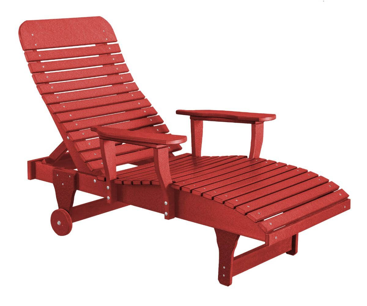 Cardinal Red Andaman Outdoor Chaise Lounge