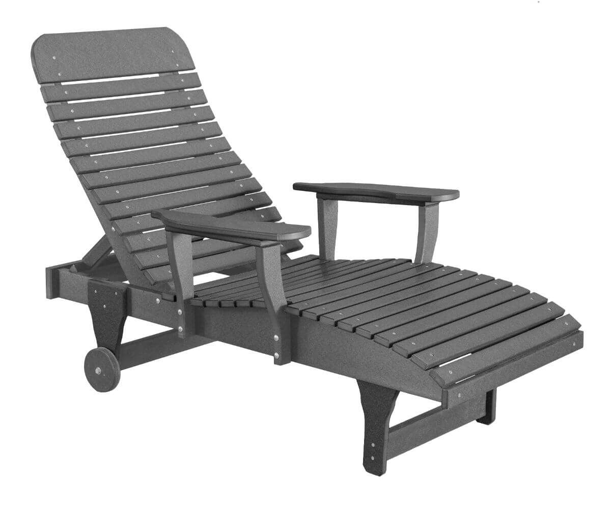 Dark Gray Andaman Outdoor Chaise Lounge