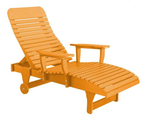 Orange Andaman Outdoor Chaise Lounge